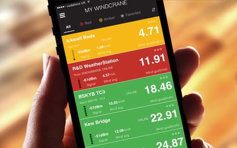 Windcrane app in hand